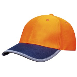 Luminescent Safety Cap with Reflective Trim