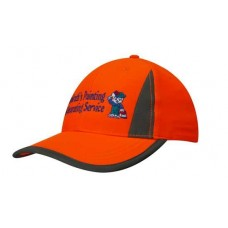 Luminescent Safety Cap with Reflective Inserts and Trim