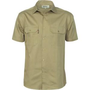 Cotton Drill Work Shirt - Short Sleeve