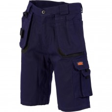 Duratex Cotton Duck Weave Tradies Cargo Shorts - with twin holster tool pocket