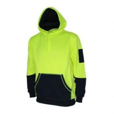 Hivis 2 tone super fleecy hoodie