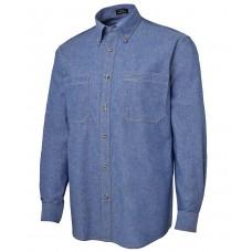 L/S Cotton Chambray Shirt Tan Stitch 4CLS