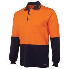 Hi Vis L/S Cotton Polo