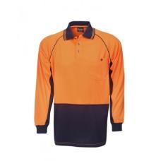 P63 Hi Vis Raglan Sleeve Cooldry Polo